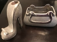 gray ceramic stilettos vase