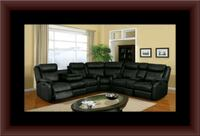 Cshape sectional black leather free shipping Falls Church, 22041