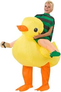 NEW: Airblown Inflatable Rubber Ducky Rider Costume Pataskala