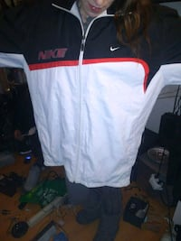 white and red zip-up jacket Montréal, H4B 1M7