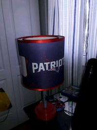 blue and red New England Patriots lampshade Chicago, 60602
