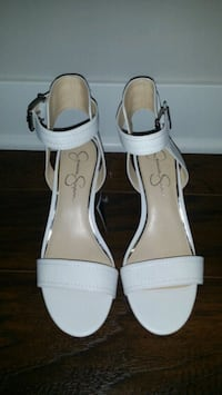 New Jessica Simpson Leather White Sandals Arlington Heights