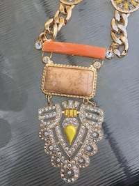 Yellow and orange long necklace