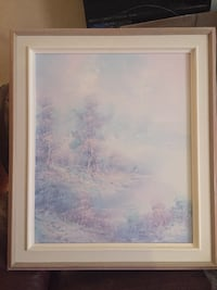 Pastel wooded scene Laval