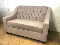 BRAND NEW CANADIAN MADE TUFTED BEIGE LOVE SEAT Toronto