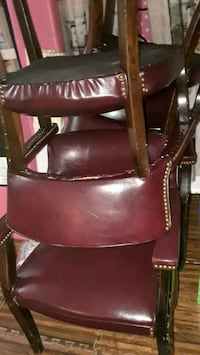 6 Maroon leather chairs..  Springfield, 22153