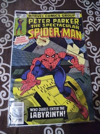 Spider comic book