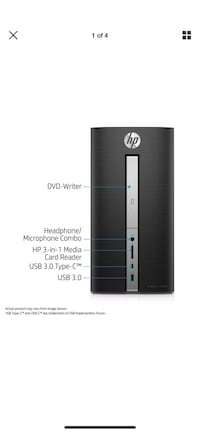 HP Pavilion Desktop PC, 570-p033w Fairfax Station, 22039