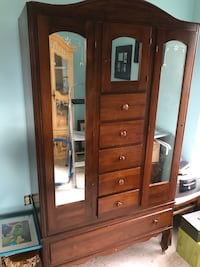 brown wooden cabinet with mirror Boyce, 22620