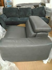 black leather padded sofa chair Toronto, M6P 1X9