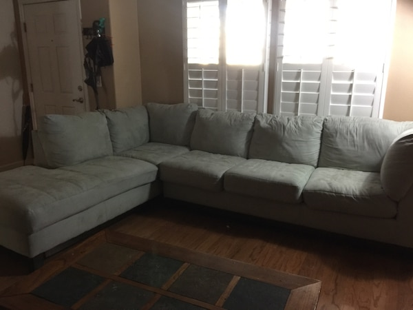 grey fabric sectional couch