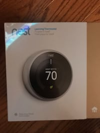 black and gray Nest learning thermostat box Herndon, 20171