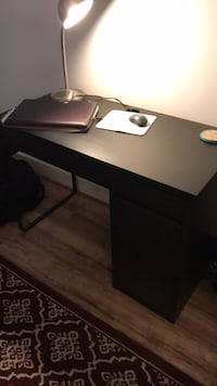 IKEA black wooden desk with black rolling chair Bristow, 20136