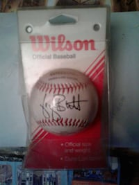 autographed Wilson baseball with pack