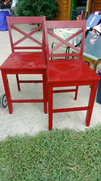 two red wooden side tables San Antonio, 78237
