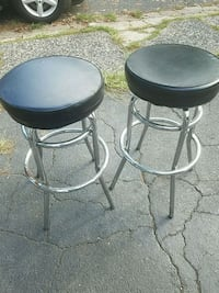 two black leather padded bar stools Cresskill, 07626
