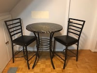 Wood and aluminum table Toronto, M6A 1T1