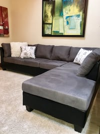 Grey Sofa (Free Delivery) Price Firm PLEASE READ POST FOR DETAILS