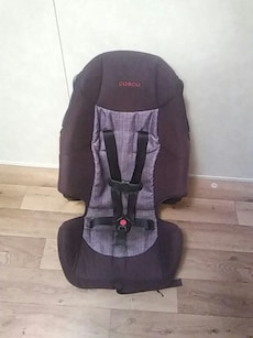 toddler's black and grey Cosco car seat
