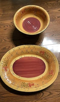 Bowl and platter