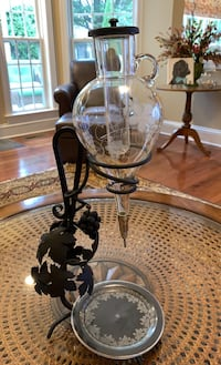 Mid Century Wine Decanter Made in Austria  Sterling, 20165