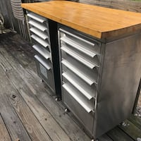 Stainless Steel Tool or Utility Cabinets ( 2 cabinets, 6 Drawers each) 167 mi