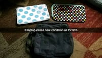 3 laptop cases new condition  Sioux Falls, 57105