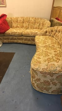 brown and white floral sofa chair Modesto, 95350