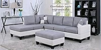 gray suede sectional sofa with ottoman Mumbai
