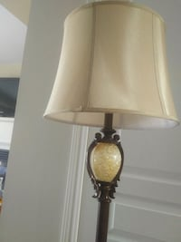 Elegant floor lamp with silky shade and glass accent Vaughan, L6A 0X2