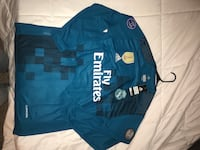 Blue and white adidas real madrid jersey shirt