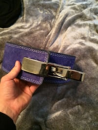 purple and black leather belt Whitby, L1R 2E3