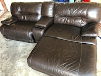 Genuine leather electric recliner