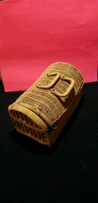 Wicker basket with door