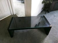 rectangular black wooden/glass coffee table Rigby, 83442