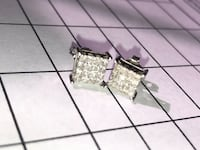Price drop. White Gold Diamond Earrings Steelton, 17113