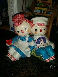 Vintage Raggedy Ann and Andy piggy bank