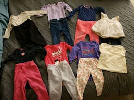 18 Month Girls Fall/Winter Clothes (16 Pieces)