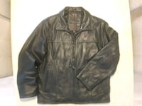 BRITCHES LINED LEATHER BOMBER IN BLACK (size M) Edmonton, AB, Canada, T7X 3Y3