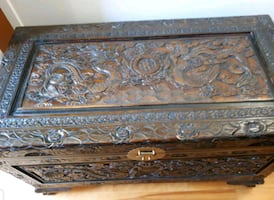 Large Wooden Trunk/Box.