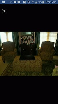 Living room set. Two chairs and ottoman.   Woodridge, 60517