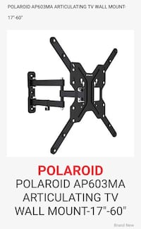 "TV WallARTICULATING TV WALL MOUNT-17""-60"" Woolwich, N3B 3P1"