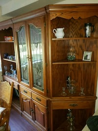 Wooden Hutch with glass doors  Tacoma, 98407