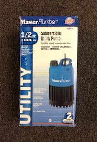 Master Plumber 1/2HP 3000GPH Submersible Utility Pump 540114 *NEW OPEN BOX* Wethersfield, 06109