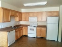 Maple cabinets and appliances gently used.