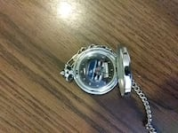round silver-colored watch with link bracelet West Springfield, 01089