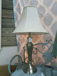 Brushed nickel lamp with shade Concord
