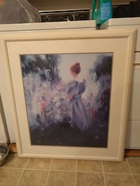 white wooden framed brown haired woman painting Trois-Rivières, G9A 3K4