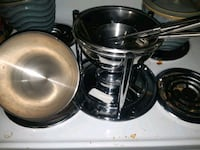 Brand new never used stainless steel fondue set