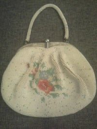 Vintage heavy beaded mother of pearl handbag mid century purse mad men Las Vegas, 89149
